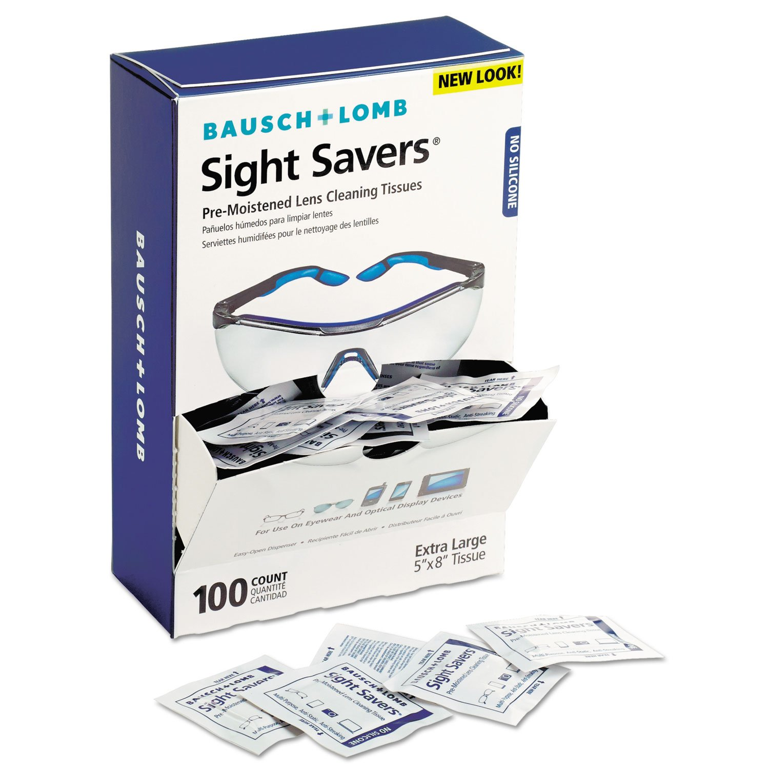 Sight Savers Premoistened Lens Cleaning Tissues, 100/Box, 10 Boxes/Carton, Sold as 1 Carton, 1000 Each per Carton