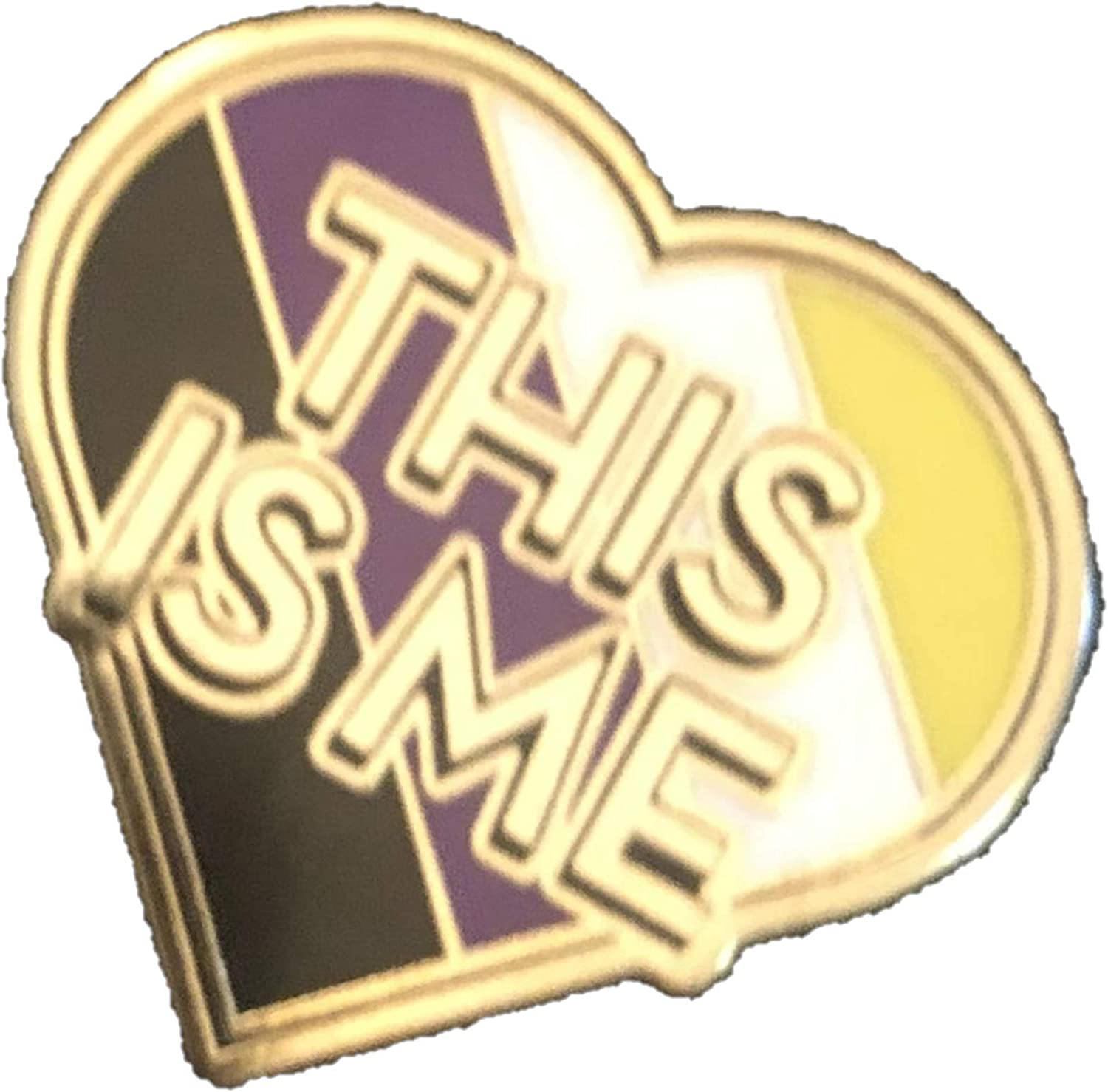 Nonbinary Pride Flag This Is Me Heart Shaped Enby Enamel Pin
