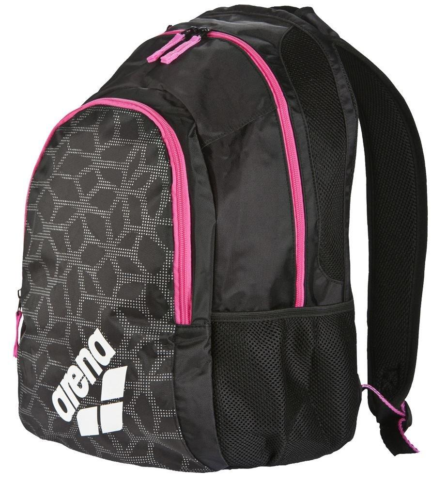 arena Spiky 2 Swim Backpack, Black X / Pivot / Fuchsia