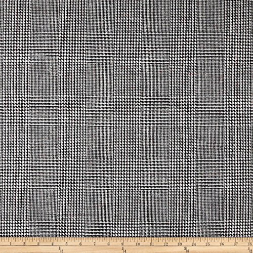 (Ametex Prince of Wales Tweed Suiting Plaid Fabric, Multi, Fabric by the yard)