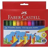 Faber-Castell 5062554324 Jumbo Keçeli Kalem, 24'Lü, 24 Renk