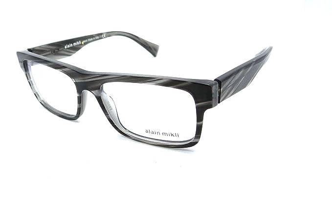 9dbbb350d2ce ALAIN MIKLI Brille Eyeglasses A03046 col.B017 grey  Amazon.de ...