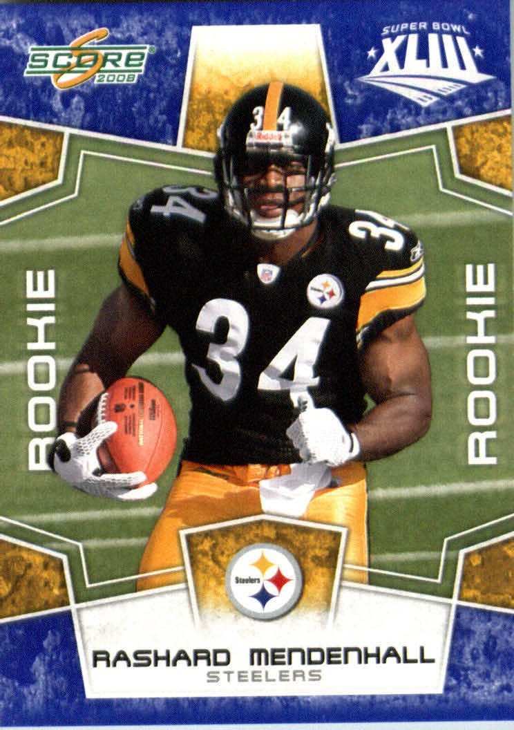 2008スコアSuperbowlブルーNFLフットボールカード – ( Limited to 1200 Made ) – # – # 347 Rashard Mendenhall ( RC – ルーキーカード) RB – Pittsburgh Steelers B00B7TROX4, aranciato(アランチェート):55a3ad64 --- harrow-unison.org.uk