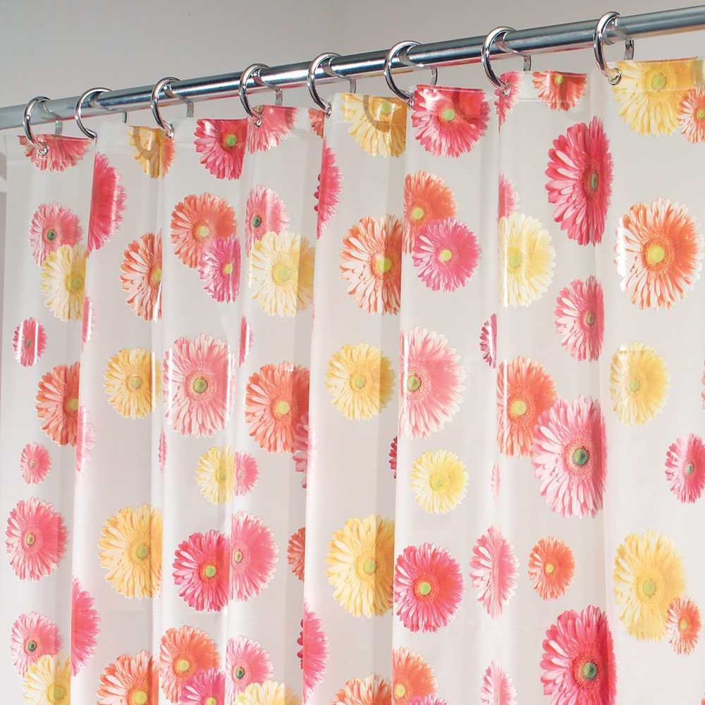 Amazon InterDesign EVA Shower Curtain Gerbera Daisy Home