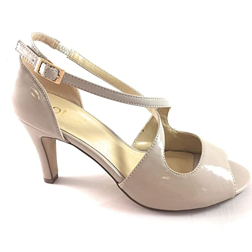 826016148e3 Lotus Rosalie Nude Patent Court Shoe: Amazon.co.uk: Shoes & Bags