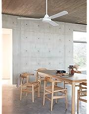 Kronos Megara 122cm Ceiling Fan Only in White - Beacon Lighting