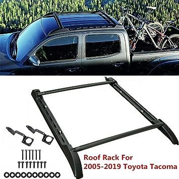 For 2005-2019 Toyota Tacoma Double Cab Roof Rack Side Rail Cross Bar  Set