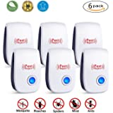 MUKER Ultrasonic Pest Repeller - 6 Pack Electronic Plug In Pest Control - Pest Reject for Mosquitoes, Mice, Ants, Roaches, Spiders, Flies, Bugs, Lizards, Non-toxic Eco-Friendly, Human & Pet Safe