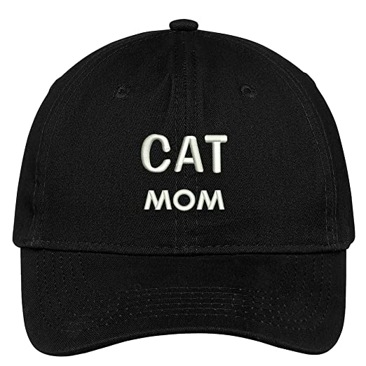 a99e4f72104 Trendy Apparel Shop Cat Mom Embroidered Low Profile Deluxe Cotton Cap Dad  Hat - Black