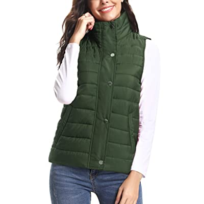iClosam Women's Winter Puffer Vest Lightweight Packable Down Vest Quilted Jacket Coat: Clothing