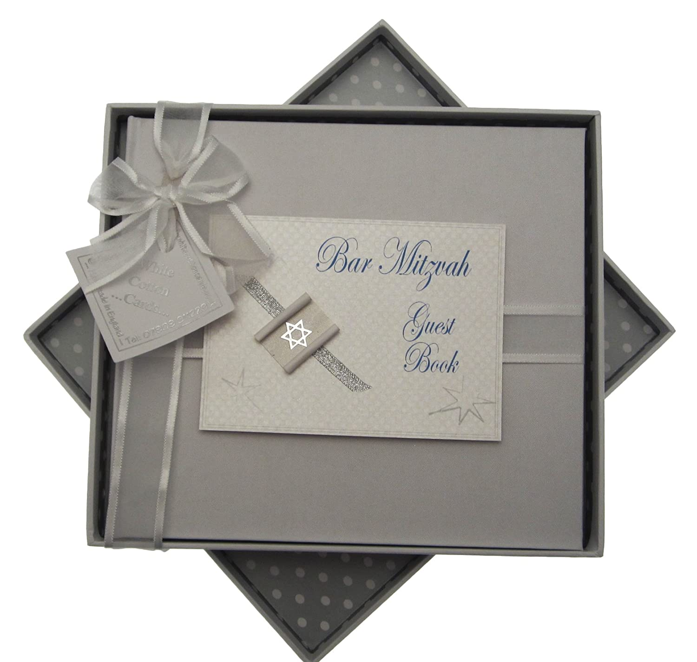 White Cotton Cards Carte de bar Mitzvah livre cadeau juif (garç ons) JEA4G