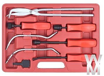 8 Piezas Freno Muelle Instalador Removedor Alicate Herramientas Kit Set: Amazon.es: Coche y moto