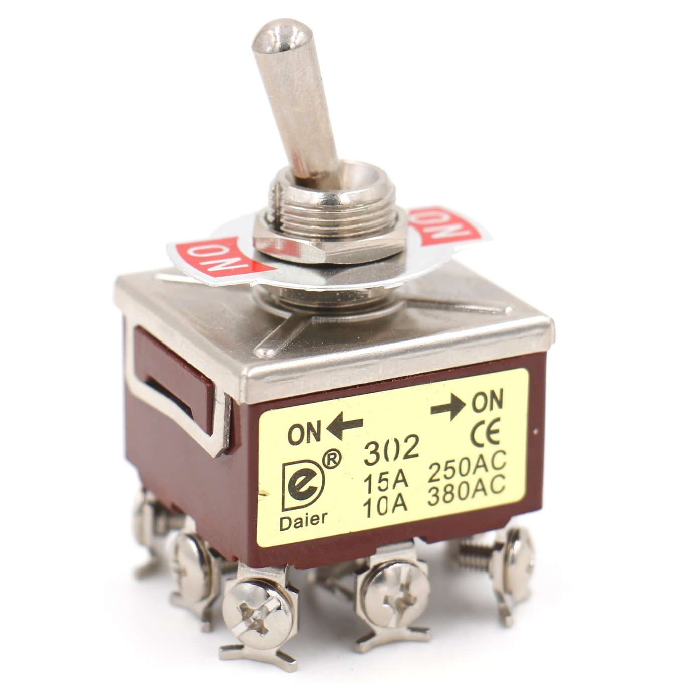 Heschen metal toggle switch 3PDT maintained ON//ON 2 position 15A 250VAC 10A 380VAC CE