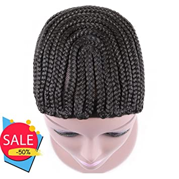 Amazon Braided Weave Cap With Adjustable Strap And Combs Impressive Side Part Sew In Braid Pattern
