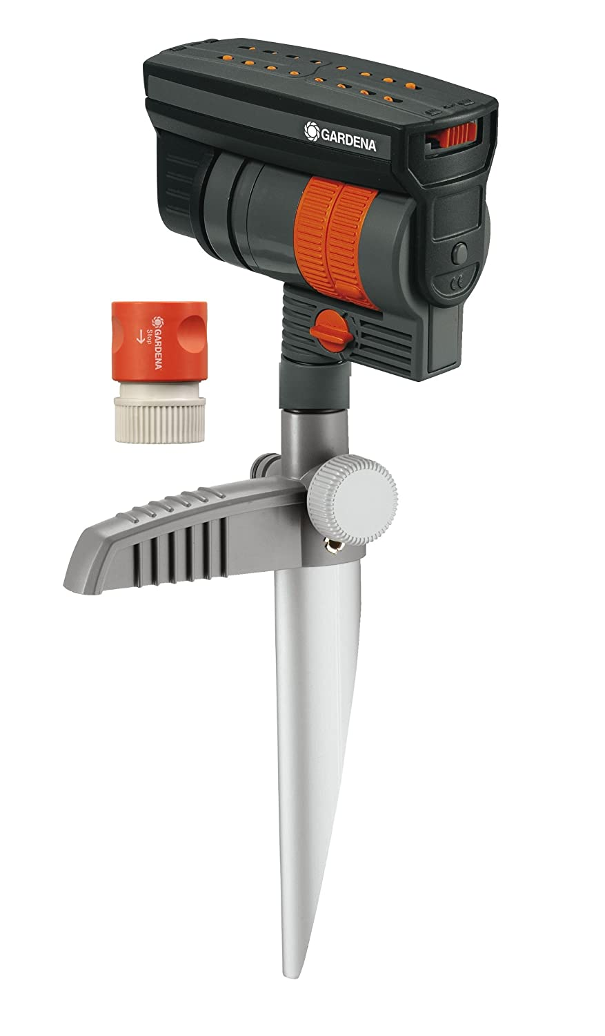 Gardena ZoomMaxx Oscillating Sprinkler on Metal Step Spike