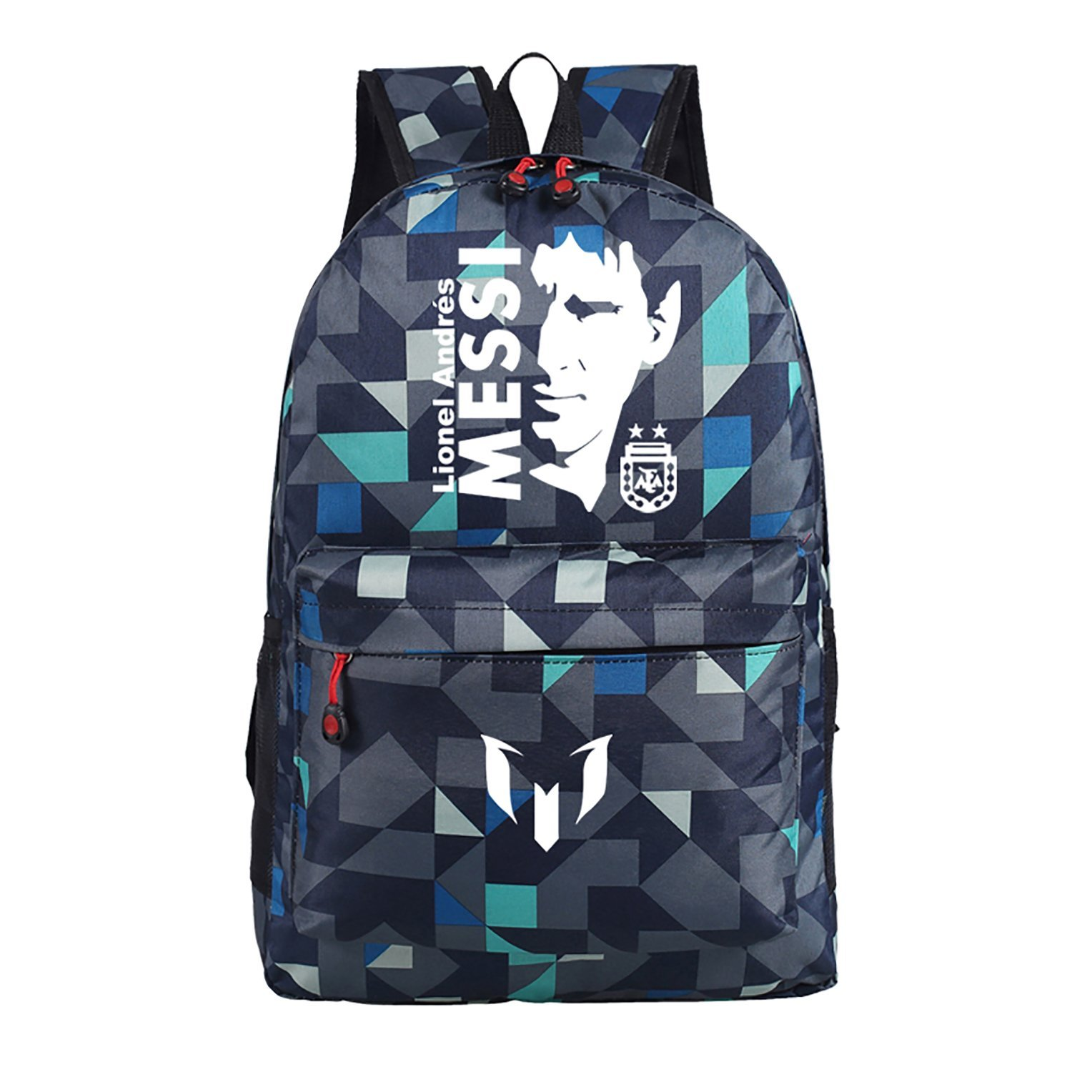 35e76ccc6f Barcelona Lionel Messi Backpack Jersey Football Bags for Kids Large School  Bags for Boys Soccer World (Lattice Blue)  Amazon.ca  Luggage   Bags