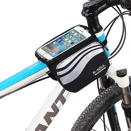 W-top Bolsa Bicicleta Manillar Montaña, bolsa móvil portaequipajes bicicleta plegable delantera, Impermeable