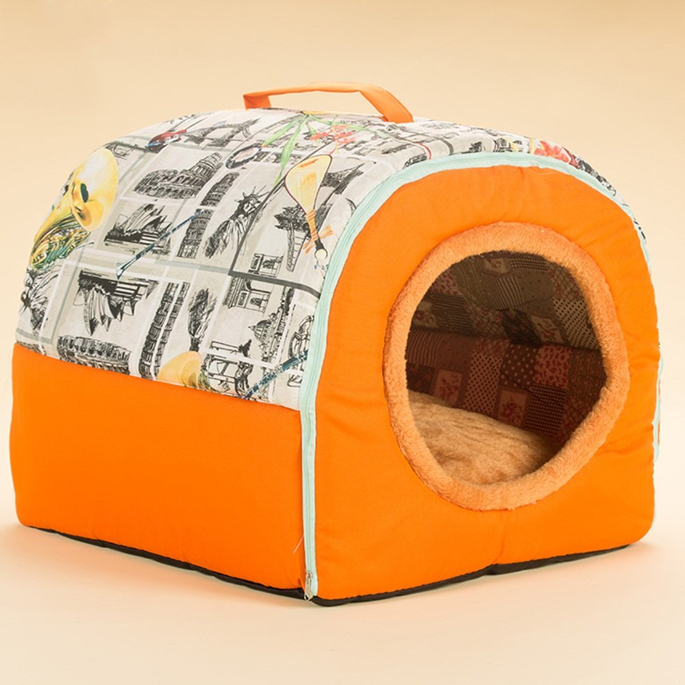 L Pet nest Global- Portable Kennel Sofa Bed Pet Bed Pet Cushion Pet Cat Nest Dog Bed Strong Resistance To Bite (Size   L)