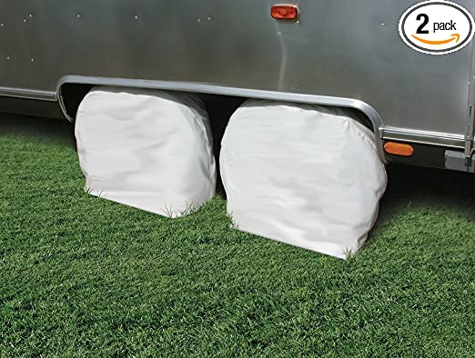 2 pack 36 inches-39 inches  , White Camco 45325 Vinyl Wheel /& Tire Protector