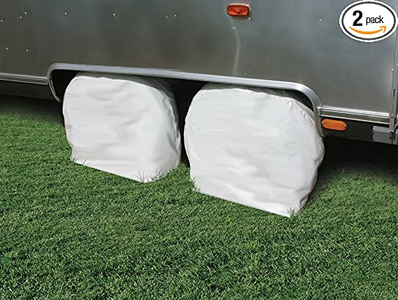 Expedition EXO RV Wheel Covers by Eevelle Set of 2 19-22 RV Wheel Cover White