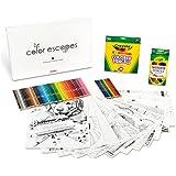 Color Escapes Adult Coloring Kit, Paw Prints includes 12 Preimum Sheets, 50 Colored Pencils, 12 Watercolor Pencils Pencils! Complete Adult Coloring Gift Set!