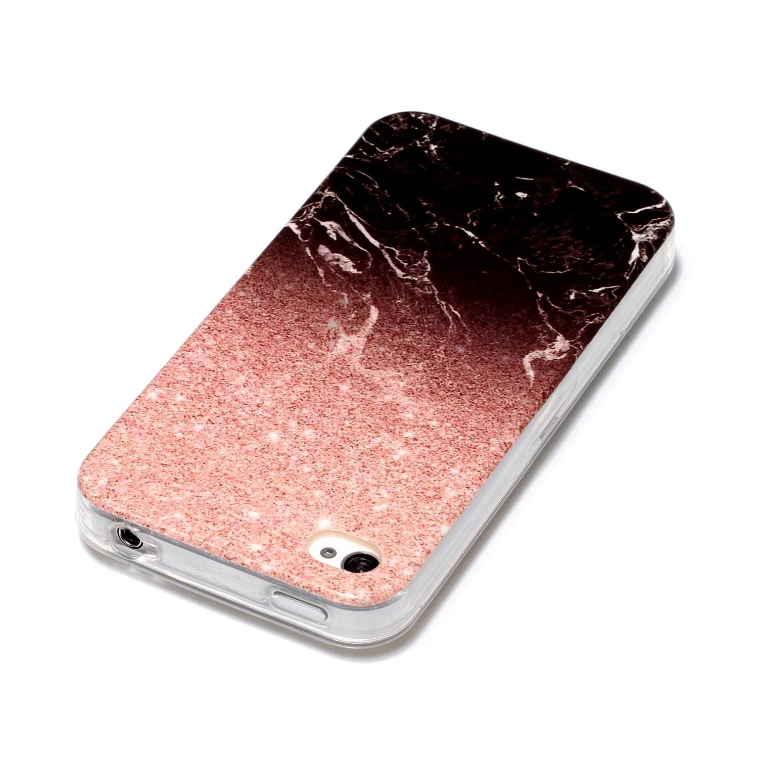 for iPhone 4//iPhone 4S Marble Case with Screen Protector,OYIME Creative Glossy Brick red /& Black Marble Pattern Design Protective Bumper Soft Silicone Slim Thin Rubber Luxury Shockproof Cover