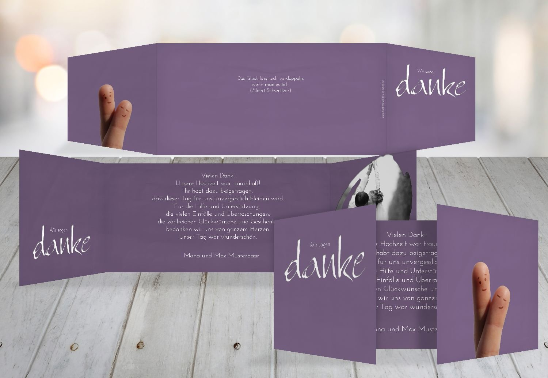 Kartenparadies Danksagung für Hochzeitsgeschenke Hochzeit Dankeskarte Fingerpaar, hochwertige Danksagungskarte Hochzeitsglückwünsche inklusive Umschläge   10 Karten - (Format  215x105 mm) Farbe  HellRosa B01N13BWYN | Bekannt für seine