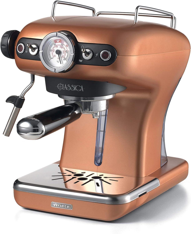 Ariete 1391 Clásica de café Espresso, 850 W, Cobre: Amazon.es: Hogar