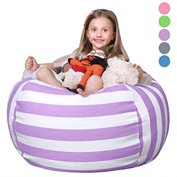 Amazon Com Wekapo Stuffed Animal Storage Bean Bag Chair For Kids