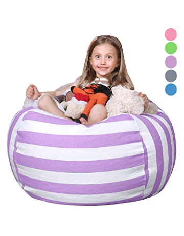 WEKAPO Kids Stuffed Animal Storage Bean Bag Chair  d82accfa91cbc