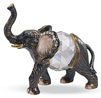 Crystal Collectible   Novel Elephant Figurine Glass Trinket Collectible