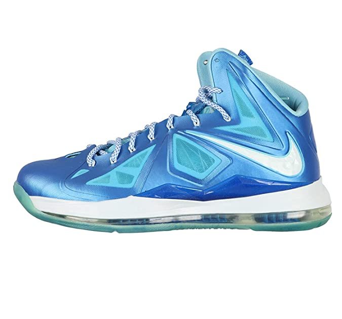 premium selection 7c927 33f7c Amazon.com   Lebron X + Blue Diamond Sz 14 (Photo Blue Windchill-Td PL Bl)    Basketball