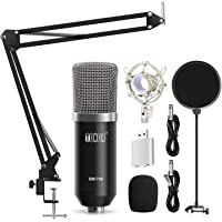 TONOR Professional Studio Condenser Microphone Computer PC Microphone Kit with 3.5mm XLR/Pop Filter/Scissor Arm Stand…