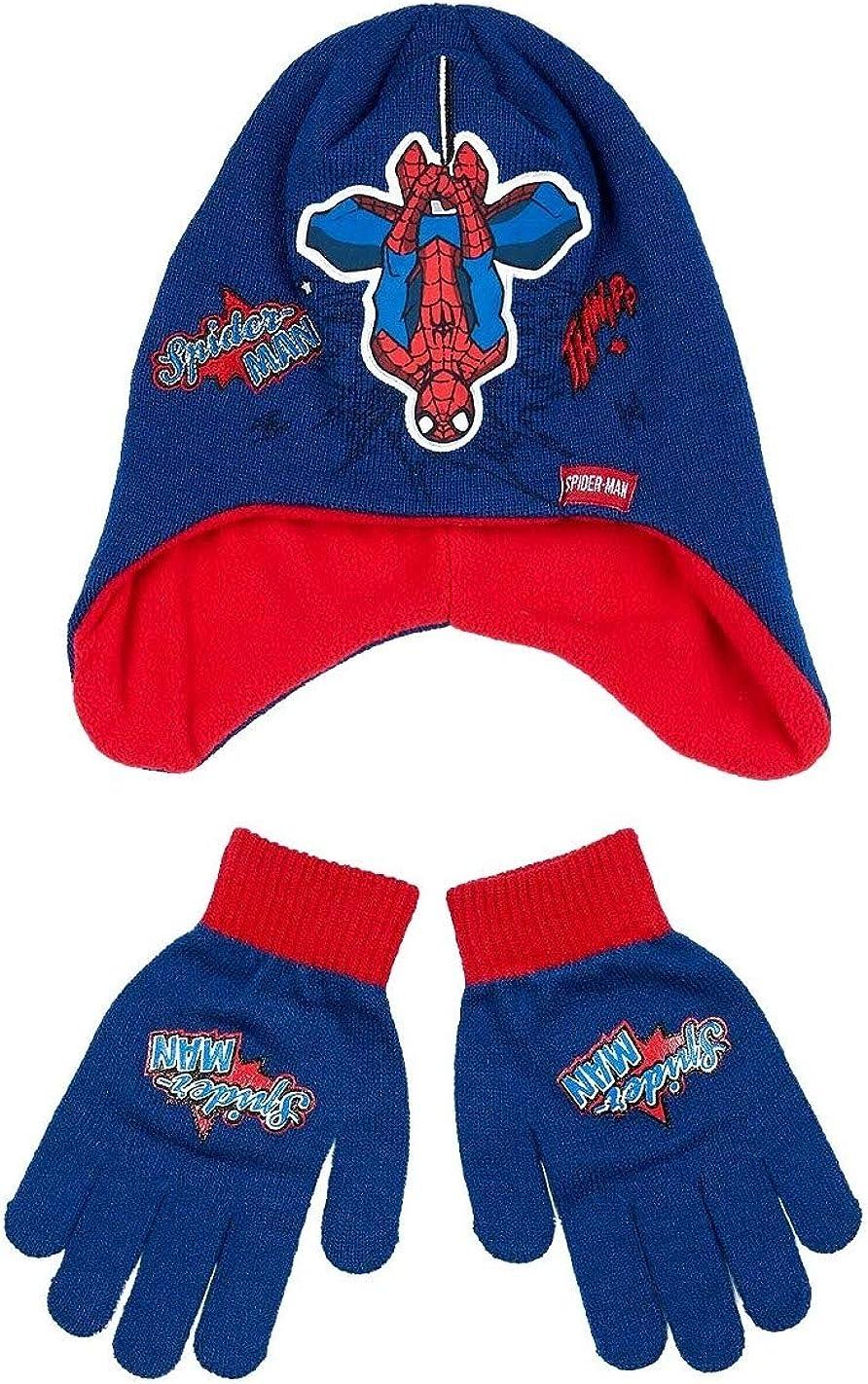 Spiderman Bonnet p/éruvien Gar/çon Bleu