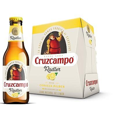 Cruzcampo Radler Limon Cerveza - Pack de 6 Botellas x 250 ml - Total: 1.5