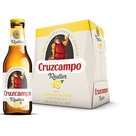 Cruzcampo Radler Limon Cerveza - Pack de 6 Botellas x 250 ml ...