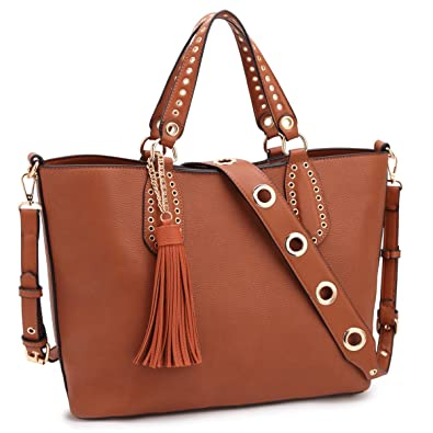 bf4b0972dcc Image Unavailable. Image not available for. Color  DASEIN Women Leather  Tote Shoulder Bags ...