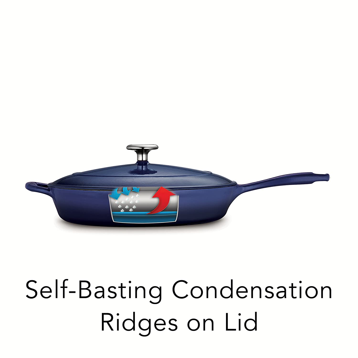Tramontina Enameled Cast Iron Covered Skillet
