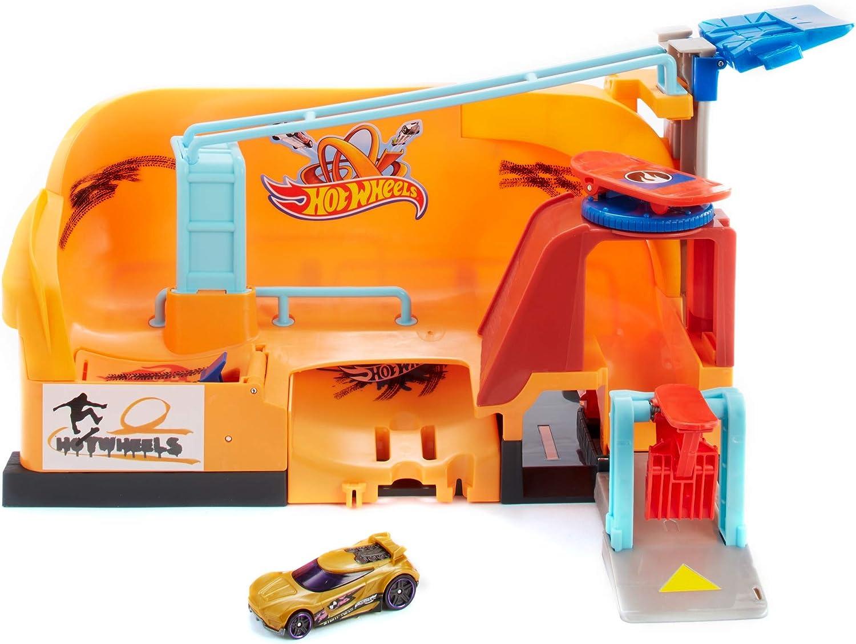 Hot Wheels Parque de acrobacias, pista de coches de juguete ...