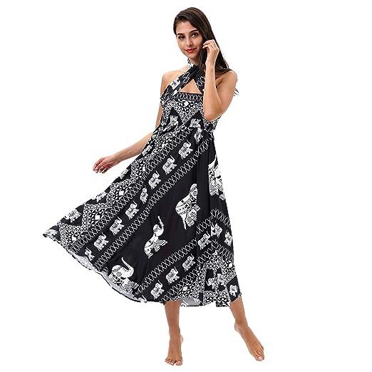 YAN Damas de Playa Vestido de la impresión 3D Vestido sin Mangas ...
