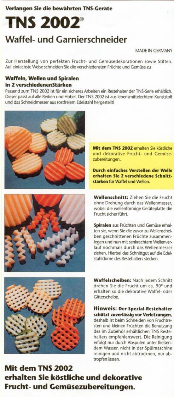 ORIGINAL TNS 2002 WAFFELSCHNEIDER GARNIERSCHNEIDER