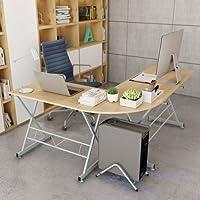 SLYPNOS Winkel, L-Ecke Computer Schreibtisch PC Gaming Tisch Laptop Studie Workstation mit-Tastatur Tablett und Freistehende CPU Ständer, geräumige Arbeit Bereich für Studie Home Office