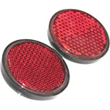 RS Vintage Parts RSV-B00ZLQXA96-00622 Pair Lucas Type Universal Red REFLector 90Mm Willys Motorcycle Car