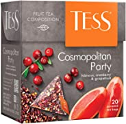 Tess Cosmopolitan Party, Hibiscus, Cranberry and Grapefruit (Cosmopolitan Party, Hibisco, Arándano y Pomelo), Té de hoja en b