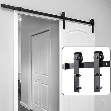 Kit de herramientas para puerta corrediza de granero, 5 pies, barra de madera de granero de