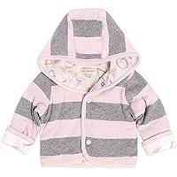 Burt's Bees - Sudaderas para bebé unisex con cierre y abrigos con capucha, algodón orgánico