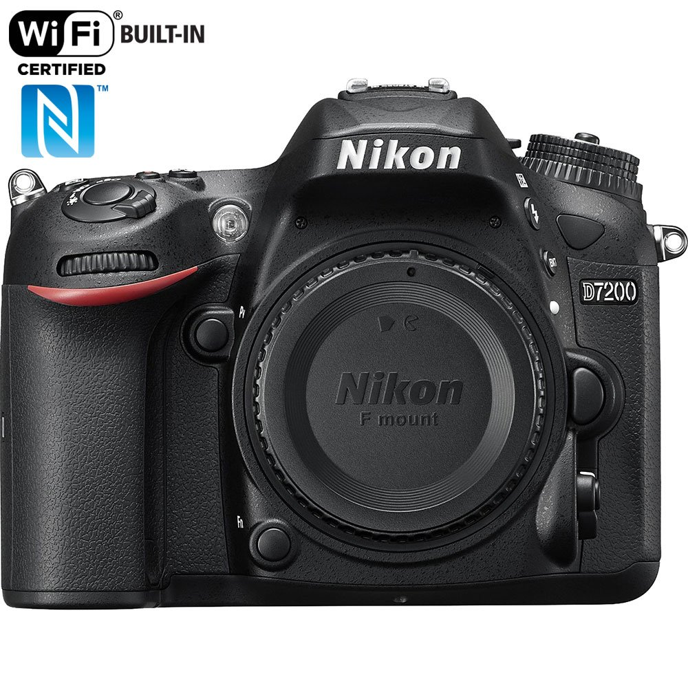 Nikon D7200 24.2 MP DX-format Digital SLR Body with Wi-Fi and NFC (Black)(Certified Refurbished) by Nikon
