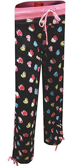d45007eb7 Hello Kitty Women's Animal Print Rainbow Hearts Capri Lounge Pants (Small)