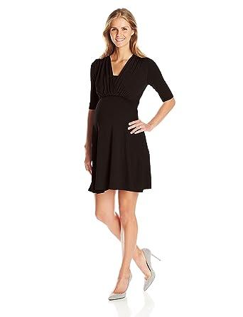 25d1954beaf Maternal America Women's Maternity Mini Front Tie Nursing Dress at Amazon  Women's Clothing store: