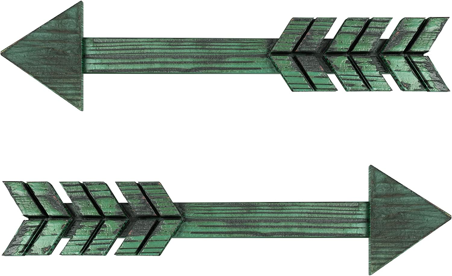 Treasures Deck Set of 2 Arrow Wall Decor Rustic- Farmhouse and Home Hanging Decoration (Green)